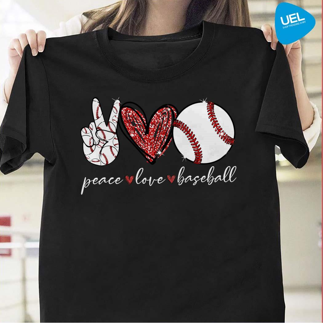 Diamond Peace Love Baseball Shirt