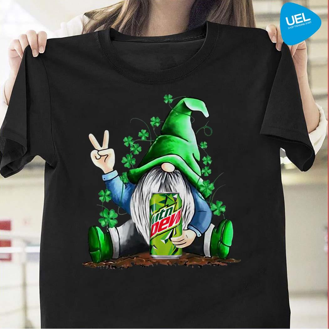 Gnomes Lucky Hug Mountain Dew St Patrick's Day Shirt